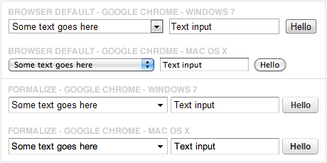 Windows / Mac examples of Google Chrome